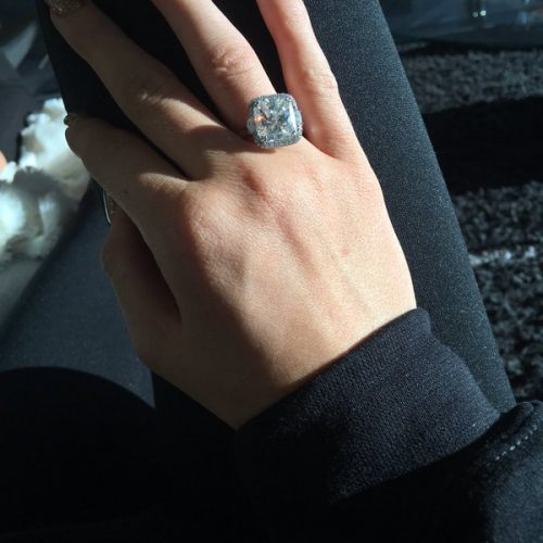 Tyga & Kylie Engaged? kylie jenner sends engagement rumors ablaze when she posts this sparkling diamond on twitter.