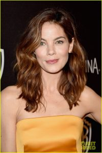 Michelle Monaghan wearing dior beauty at Golden Globe Beauty and Fashion